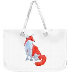 Cute Fox With Fluffy Tail Weekender Tote Bag