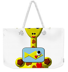 Cute Giraffe With Goldfish Weekender Tote Bag