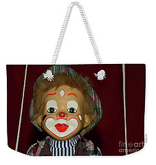 Weekender Tote Bag featuring the photograph Cute Little Clown By Kaye Menner by Kaye Menner