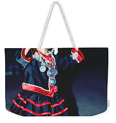 Weekender Tote Bag featuring the photograph Cute Little Thai Girl Dancing by Heiko Koehrer-Wagner