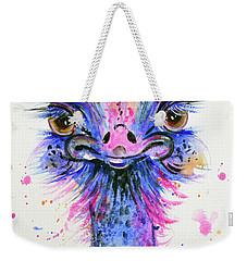 Cute Ostrich Weekender Tote Bag by Zaira Dzhaubaeva