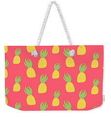 Cute Pineapples Weekender Tote Bag by Allyson Johnson