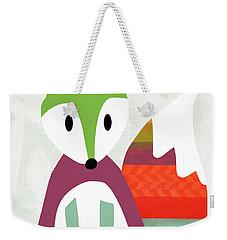 Cute Purple And Green Fox- Art By Linda Woods Weekender Tote Bag