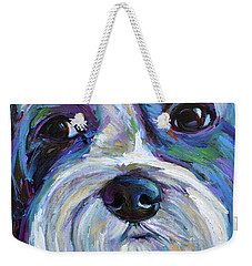Cute Shih Tzu Face Weekender Tote Bag by Robert Phelps
