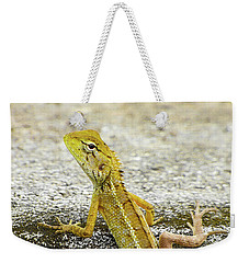 Cute Yellow Lizard Weekender Tote Bag