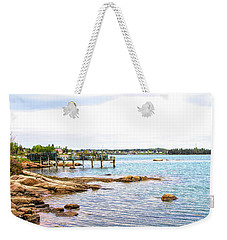 Weekender Tote Bag featuring the photograph Cutler Pier by Betty Pauwels