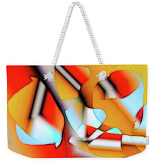 Weekender Tote Bag featuring the digital art Cutouts by Ron Bissett