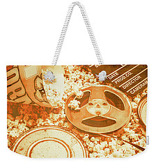 Cutting A Scene Of Vintage Film Weekender Tote Bag by Jorgo Photography - Wall Art Gallery