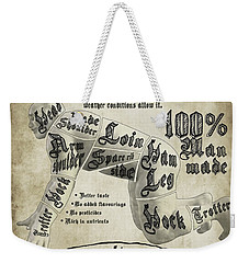 Cutting Human Weekender Tote Bag