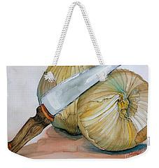 Cutting Onions Weekender Tote Bag