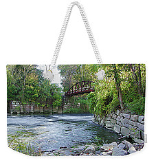 Cuyahoga River At Peninsula Weekender Tote Bag
