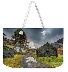 Weekender Tote Bag featuring the photograph Cwmorthin Slate Ruins by Adrian Evans
