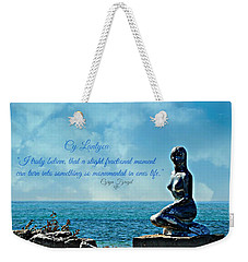 Weekender Tote Bag featuring the photograph Cy Lantyca Quote by Cyryn Fyrcyd