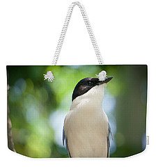 Weekender Tote Bag featuring the photograph Cyanopica by Judy Kay
