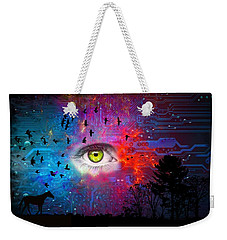 Cyber Nature Weekender Tote Bag by Paulo Zerbato