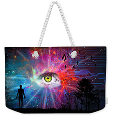 Cyber Sky Weekender Tote Bag by Paulo Zerbato