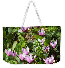 Cyclamen In Spring Weekender Tote Bag by Esther Newman-Cohen