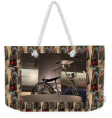 Weekender Tote Bag featuring the photograph Cycle Bicycle Race Exercise Posters Pillows Curtains Tote Bags Towels Christmas Holidays Festivals  by Navin Joshi