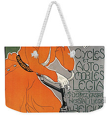 Cycles Et Automobiles Legia Poster 1898 Weekender Tote Bag