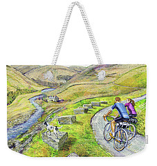 Weekender Tote Bag featuring the painting Lancashire Lanes I by Mark Howard Jones