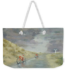 Cycling On Ocracoke Island Weekender Tote Bag