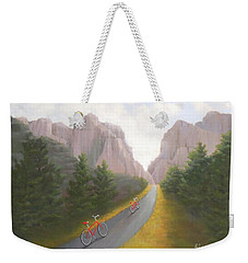 Cycling To The Pearly Gates Weekender Tote Bag