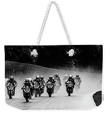 Cyclist' Weekender Tote Bag by Michael Nowotny