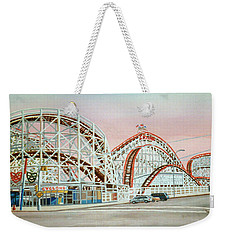 Cyclone Rollercoaster Coney Island, Ny Towel Version Weekender Tote Bag