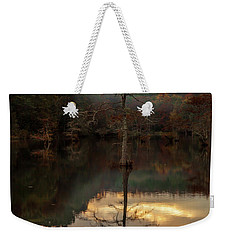Cypress At Sunset Weekender Tote Bag by Iris Greenwell