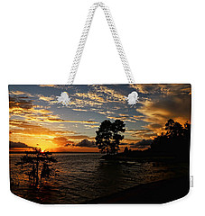 Cypress Bend Resort Sunset Weekender Tote Bag by Judy Vincent