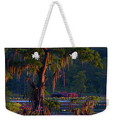 Cypress In The Sunset Weekender Tote Bag