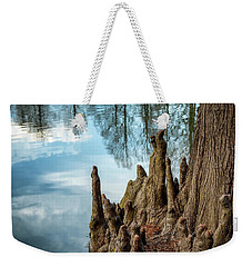 Weekender Tote Bag featuring the photograph Cypress Knees by James Barber