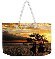 Cypress Sunset Weekender Tote Bag by Judy Vincent