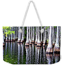 Cypress Tree Reflection Weekender Tote Bag by Tara Potts