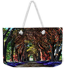 Weekender Tote Bag featuring the digital art Cypress Tree Tunnel by Jason Abando