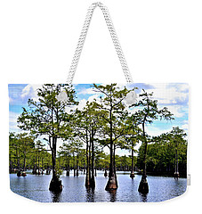 Cypress Trees Of Georgia Weekender Tote Bag by Tara Potts