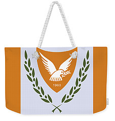 Weekender Tote Bag featuring the drawing Cyprus Coat Of Arms by Movie Poster Prints