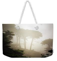 Cyprus Tree Grove In Fog Weekender Tote Bag