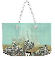 Cyrus Avery Centennial Plaza Route 66 Weekender Tote Bag