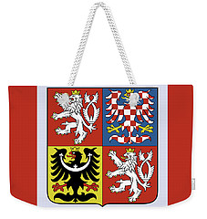 Weekender Tote Bag featuring the drawing Czech Republic Coat Of Arms by Movie Poster Prints