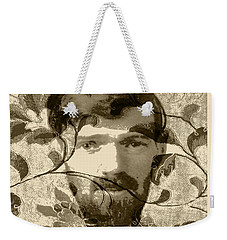 Weekender Tote Bag featuring the digital art D H Lawrence by Asok Mukhopadhyay