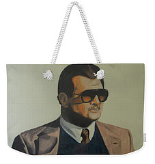 Weekender Tote Bag featuring the drawing Da Coach Ditka by Melissa Goodrich