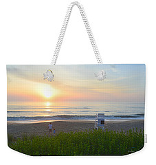 Weekender Tote Bag featuring the photograph Daddy Daughter Time by Barbara Ann Bell