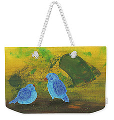 Weekender Tote Bag featuring the painting Daddy, Hungry by Manuel Sueess
