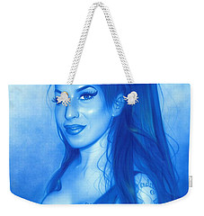 Amy Winehouse - ' Daddy's Girl ' Weekender Tote Bag by Christian Chapman Art