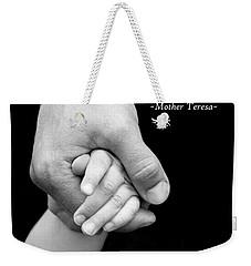 Daddy's Hand Weekender Tote Bag