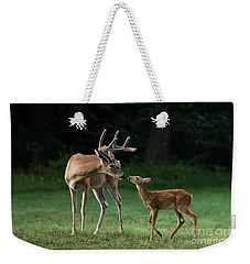 Weekender Tote Bag featuring the photograph Daddy's Little Girl by Andrea Silies
