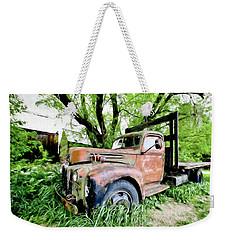 Dads Old Flatbed Truck. Weekender Tote Bag
