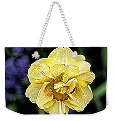 Weekender Tote Bag featuring the photograph Daffodil Dallas Arboretum by Diana Mary Sharpton