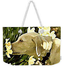 Daffodil Dog Weekender Tote Bag